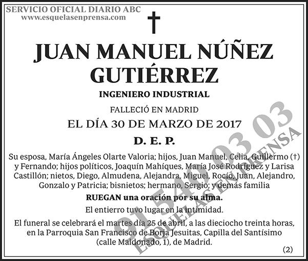 Juan Manuel Núñez Gutiérrez